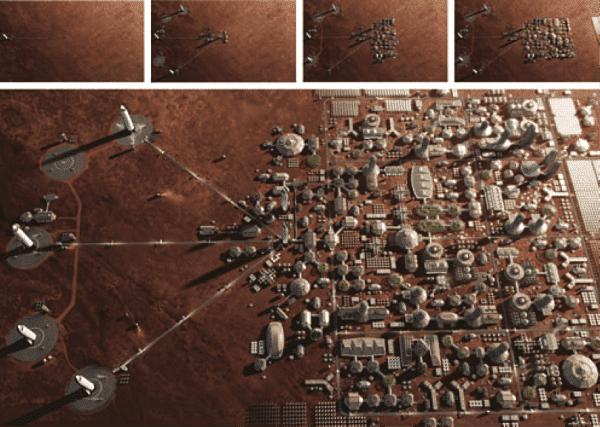SpaceX quiere crear una ciudad en Marte