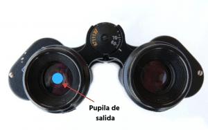 Para observación astronómica es necesario que la pupila de salida de los prismáticos sea grande.