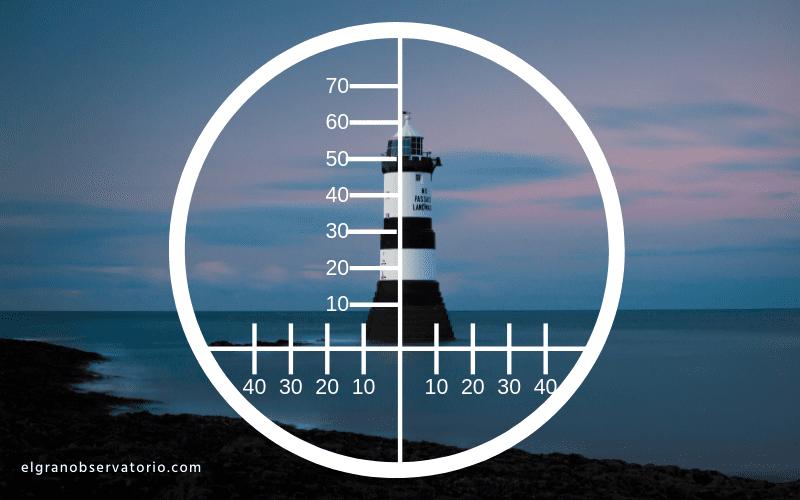Con unos prismáticos marinos con telémetro podrás calcular fácilmente las distancias.