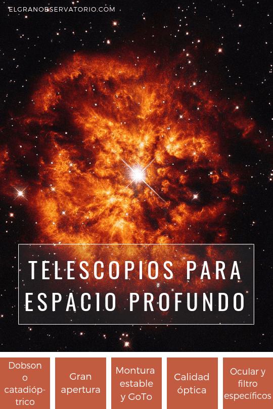 Los mejores telescopios para ver el espacio profundo tienen aperturas muy grandes.