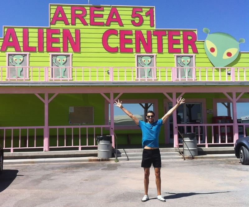 Cerca del área 51 en el desierto de Nevada.