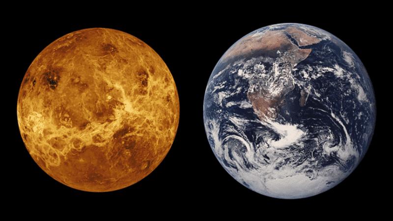 Venus y la Tierra tienen casi el mismo tamaño.