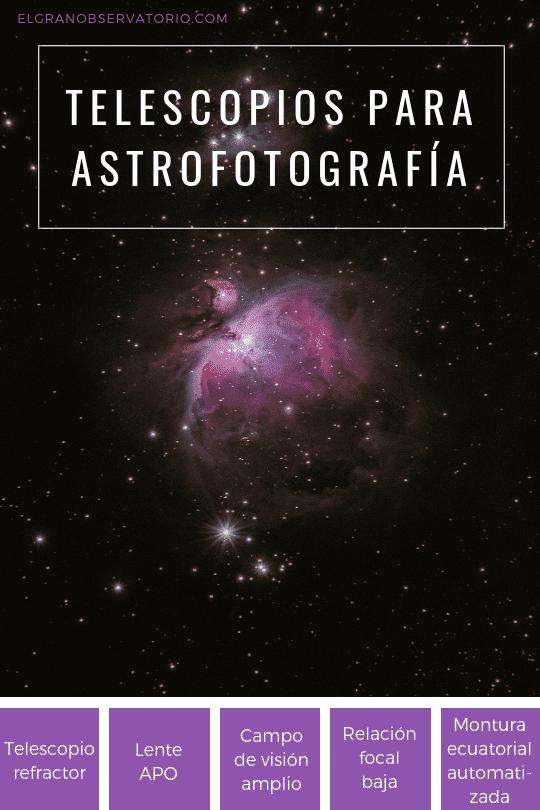 Para comenzar, el mejor telescopio para astrofotografía es un refractor APO.