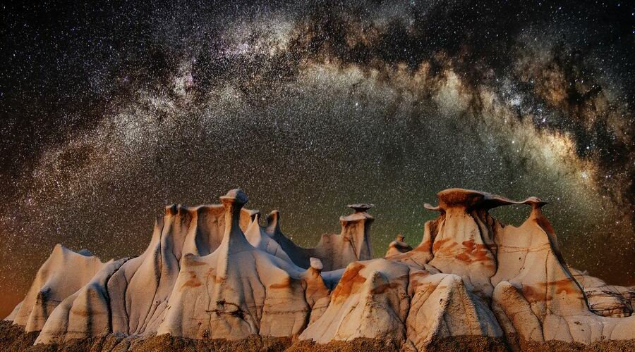 Astrofotografía de la Vía Láctea.