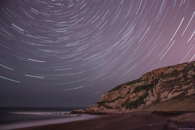 Fotografía de estrellas y paisaje nocturno.