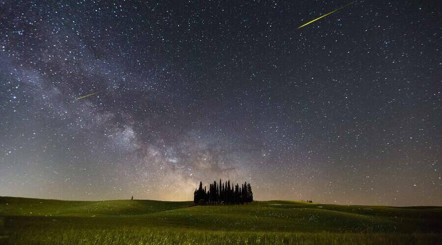Las lluvias de estrellas son evento astronómico espectacular.