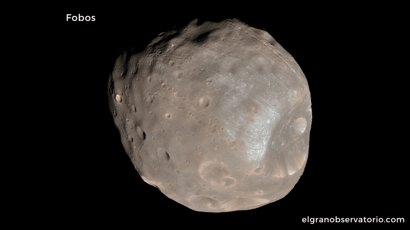 Fobos es el satélite más grande de Marte.