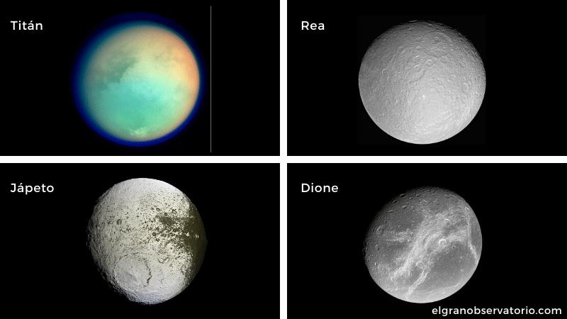 Saturno tiene 82 satélites pero Titán es el más grande todos.