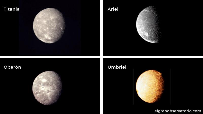 Urano tiene 27 satélites.