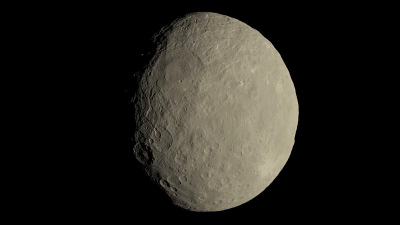 Ceres es el planeta enano que orbita más cerca de la Tierra.