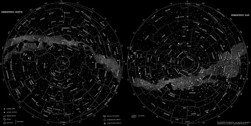 La bóveda celeste está dividida en 88 constelaciones.