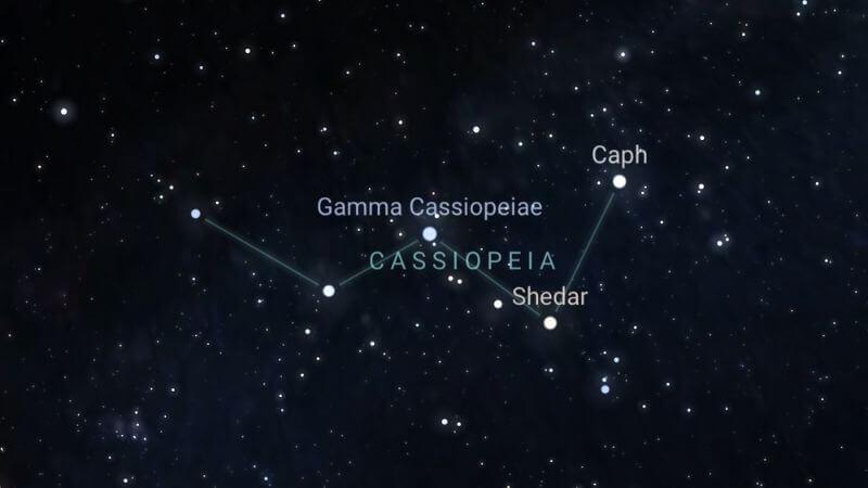 Constelación de Casiopea.