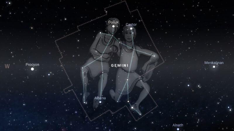 La constelación de Géminis.
