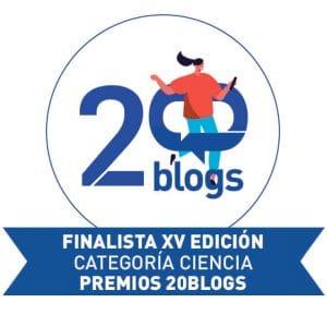 Sello de finalista de la categoría de Ciencia del concurso 20blogs de 20minutos